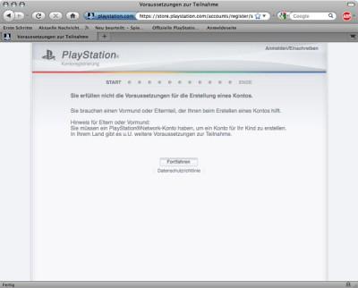 playstation store passwort vergessen
